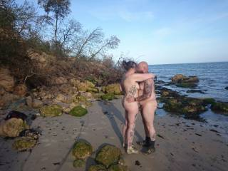 Whilst on holiday we found a nice quiet bit of beach and decided to have some fun.