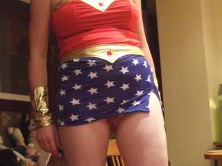 pussy peaking out under my skirt, like the wonder woman outfit?