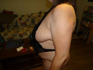 My wife finally said I can post some photos of her as long as there is no face pictures. I think she is hot. We would love any comments.She started off teasing