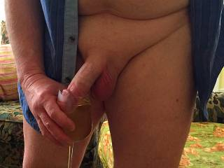 Lick the wine off the tip of my cock