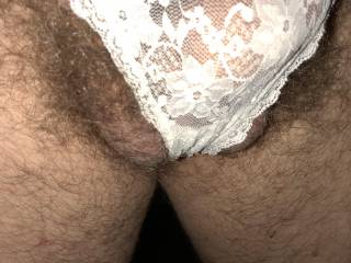the white lace splitting my balls...... release them!!!