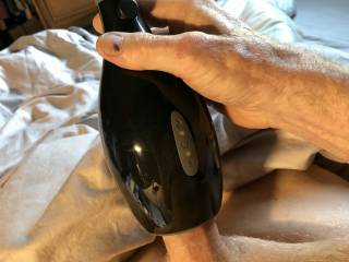 Vibrating my cock with heat. I found pleasure spinning it around.