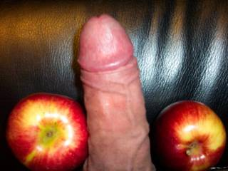 one apple a day keep the doctor away...imagine what two apples and a dick can do