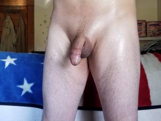 After air drying from my shower an now shaved and oiled up!!!