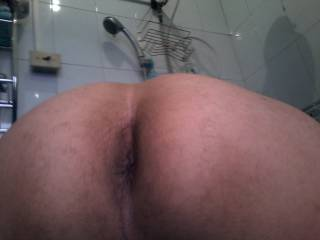 my ass in bathroom