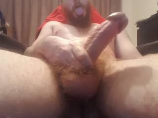 My cock gets so thick while edging