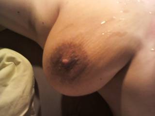 I love blow several times on my wife tits....