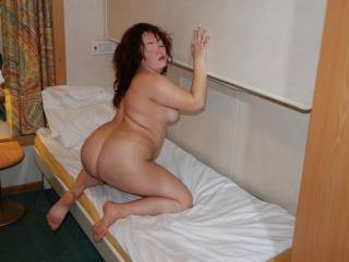 Mmm.....I wish I were behind you...I want to poke up my hard cock to your pussy....r u ready  my sweet sexy queen ?....