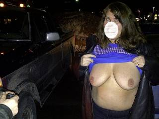 flashing the guys again in the parking lot.  Will you'll be next?