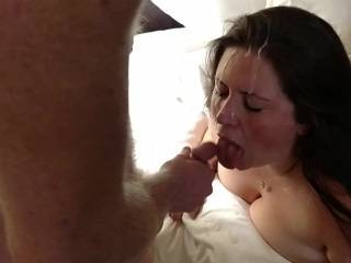 Very Sexy! I would have loved to have been the 3rd cock to first fuck you all the while looking at your beautiful cum covered face before I unload on it too! Keep up the great vids!