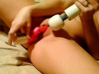 After he came it was my turn and I had fun with my toys but when he played with my pussy with his fingers I exploded.  Just wish a hot woman was there to lick my pussy juices yum!!