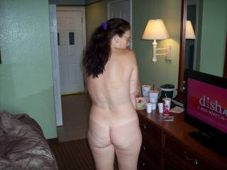 Just me naked. Candi