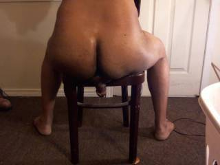 sitting on a chair with my dick under my ass.  the friction on my dick is huge.