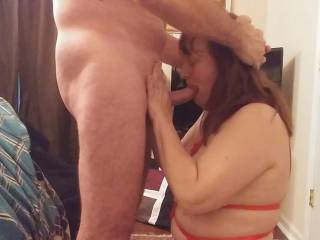 Making sure my woman enjoys all of my cock. Deeper, Baby! Get all of that cock. Watch our videos for the wife's fantastic blow job.
