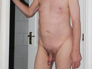 Flaccid with foreskin retracted just for a change