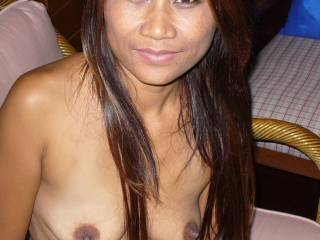Nuan, was one of the hottest Thai ladies I met recently. She looks beautiful and loves to do it with my dildos until she screams
