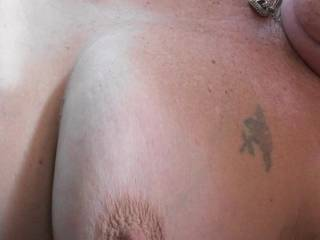 Boyfriend took these photos of my tits, we had both been playing with my nipples and as you can see they have stiffened up very well, Later he came all over them. Do you prefer hard or soft nipples?
