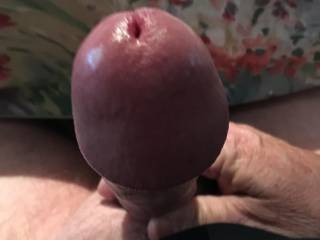 Rock hard and throbbing, here's something to aim for as you lower your pussy or mouth down on my cock.