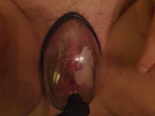 Pumping my slot wife\'s pussy before fucking