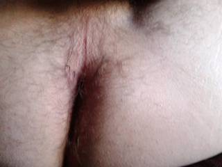 That is one hot sexy hairy ass!!  I want to lick that for hours!!