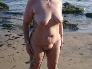 Whilst on holiday we found a nice quiet bit of beach and decided to have some fun
