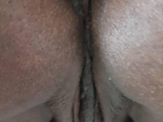 Closeup of her pussy and ass.