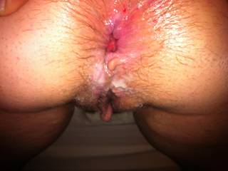 her gaping ass hole after i got done fucking it!