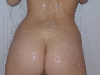 my slippery behind in the shower