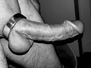 Cockring in Black and white