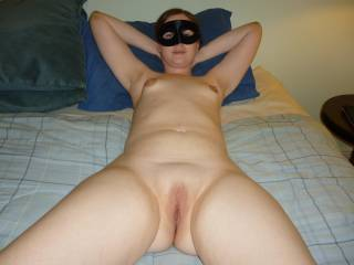My hot wife laying back and waiting for it, you guys like?