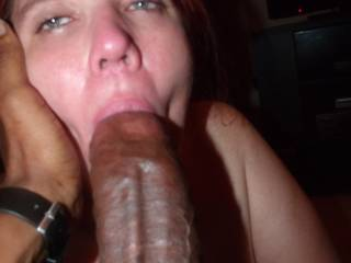 I told her to look at her little dick husband as She Sucked My Massive Black Cock
