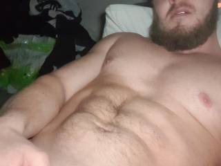Playing with my big cock out on sofa