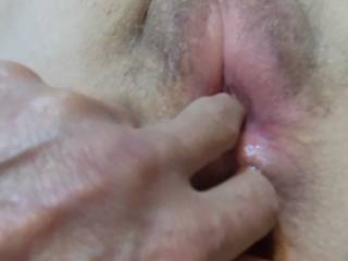 finger in both holes