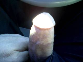 hard cock while driving