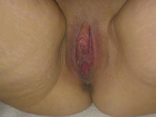 shaved and well used pussy