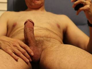 Anyone want to play with or tease a hard cock?