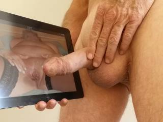 Tribute for drinkvurguzz. Hope she likes my hard cock in this position ? Your likes and comments are welcome