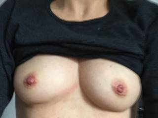 like the view with my hard nipples after a good suck ???