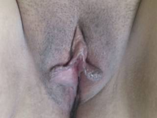 Showing her nice pussy to you