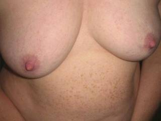 my lovely wifes tits