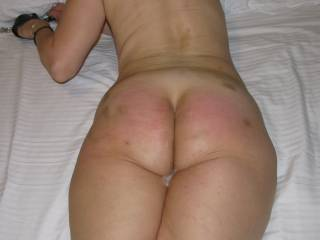 tied,spanked,fucked and filled with cum...what more do I need