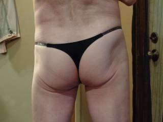Just showing my ass. Wife says it's sexy in thong and I should be an underwear model. Anyone agree?  Comments, please.